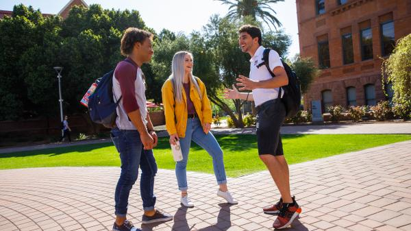 students in tempe campus